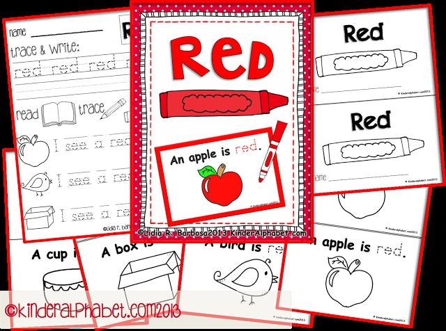 Preschool Worksheets Red 1