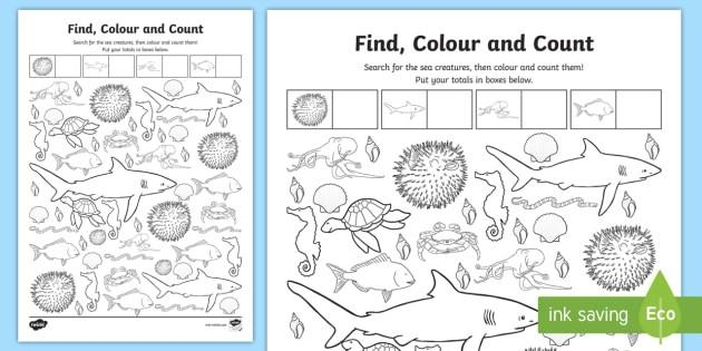 Preschool Worksheets Under The Sea 5