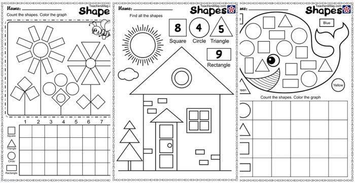 Rectangle Worksheets For Pre K