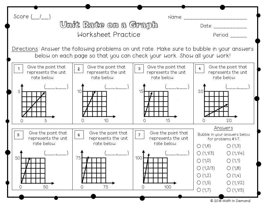 Math Worksheets Grade 7 6
