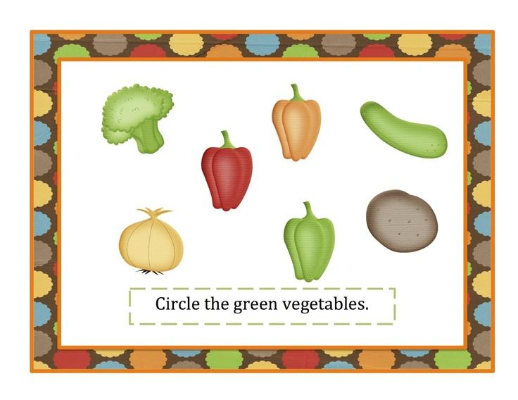 Preschool Fruits And Vegetables Worksheets For Kindergarten