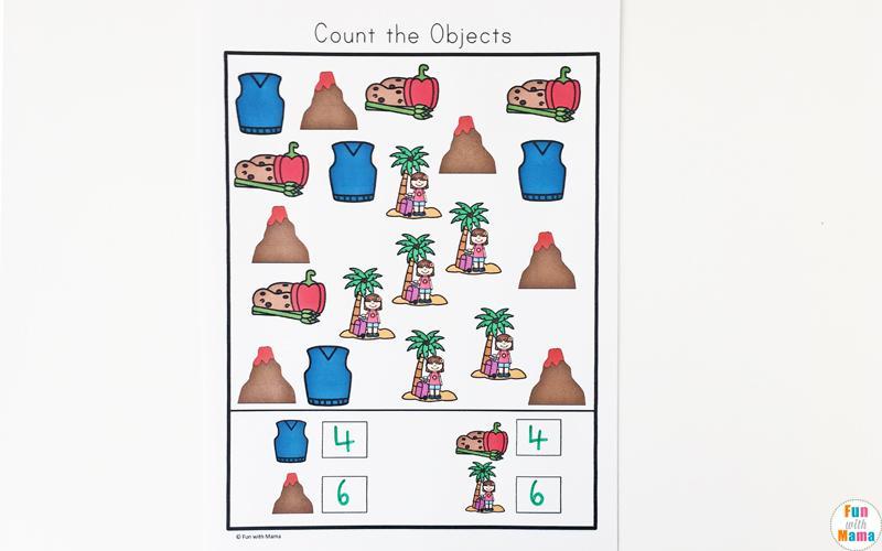 Preschool Volcano Worksheets 1