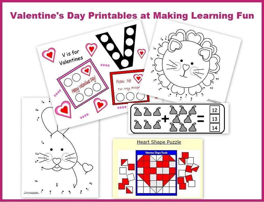 Preschool Worksheets Valentine's Day 2