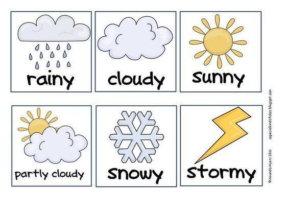 Preschool Worksheets Weather 1