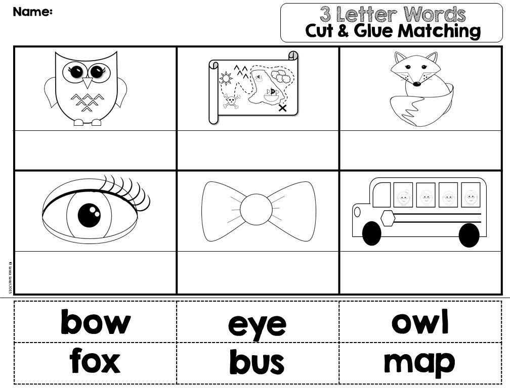 Preschool Worksheets With 3- Letter Words 1