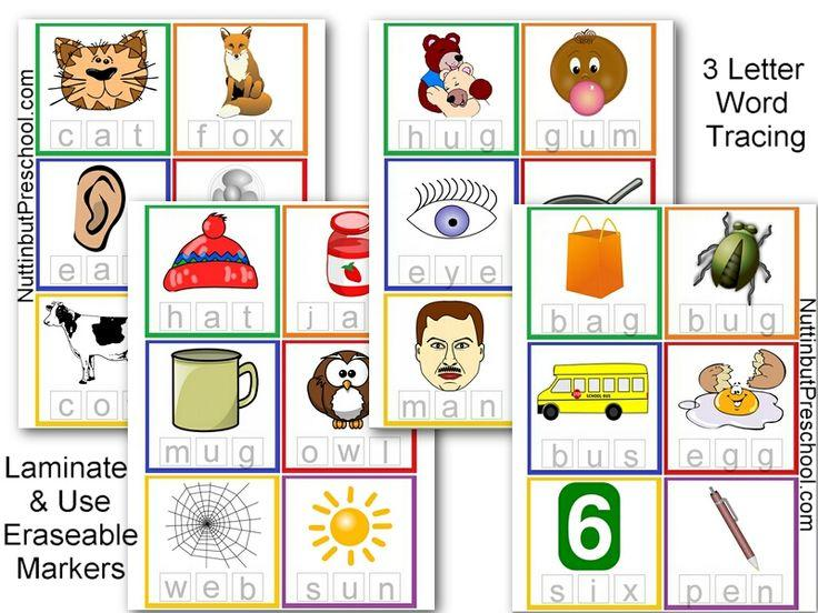 Preschool Worksheets With 3- Letter Words 6