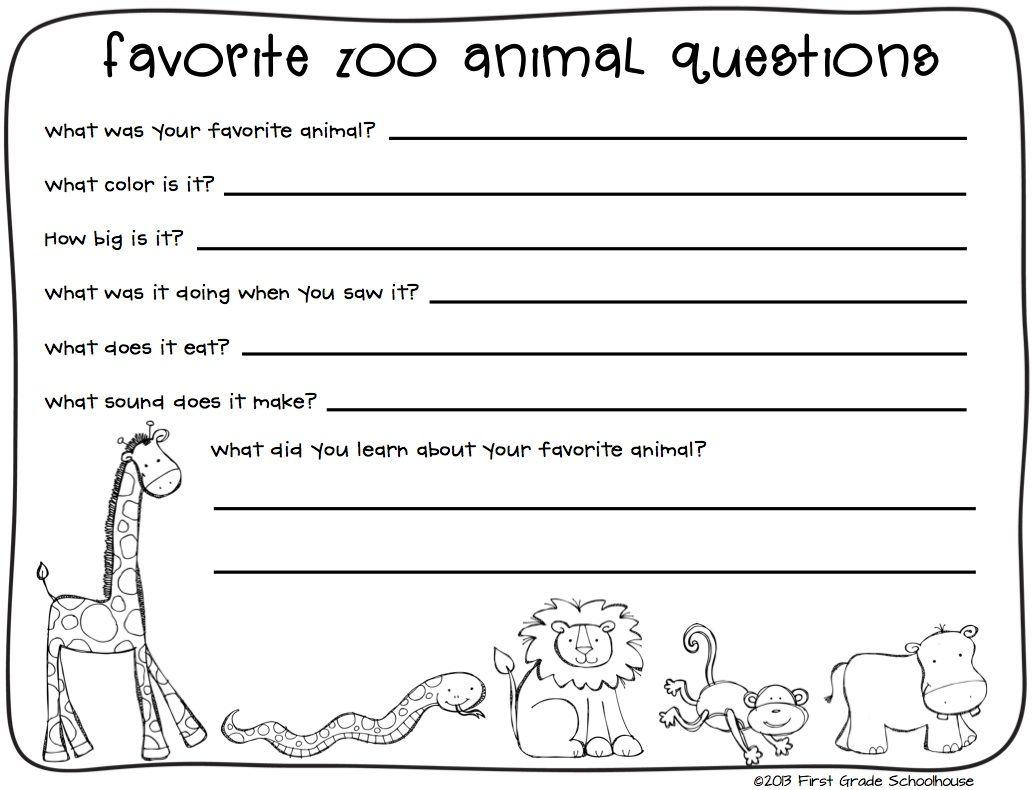 Zoo Worksheets For Preschool