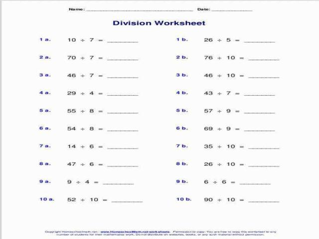 Math Worksheets Division With Remainders 13