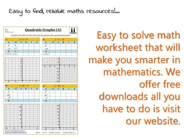 Math Worksheets Download 5