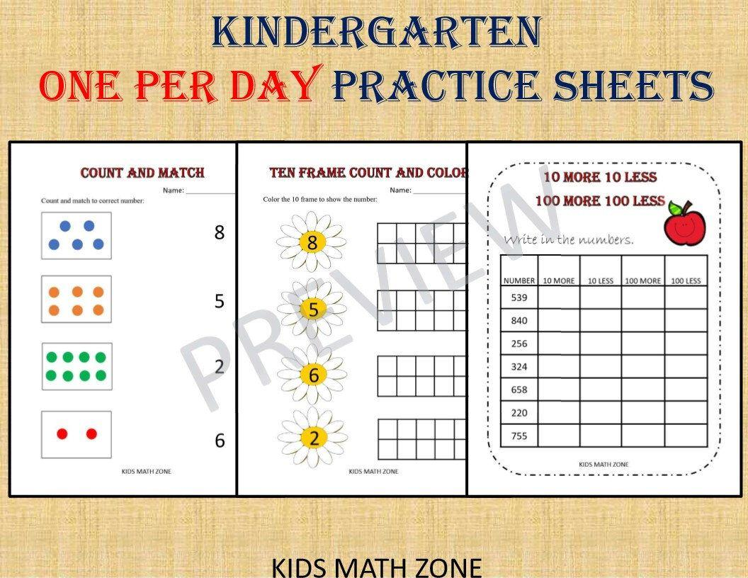 Math Worksheets For Jr Kg Students 2