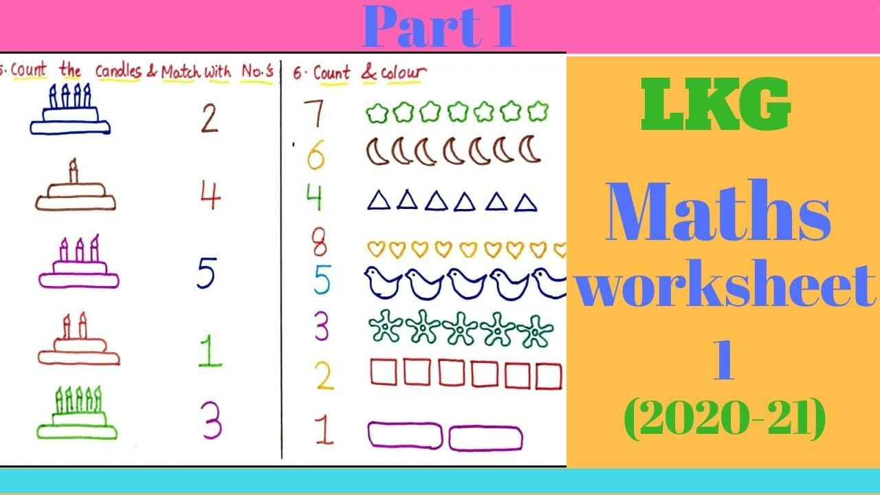 Math Worksheets Lkg 1