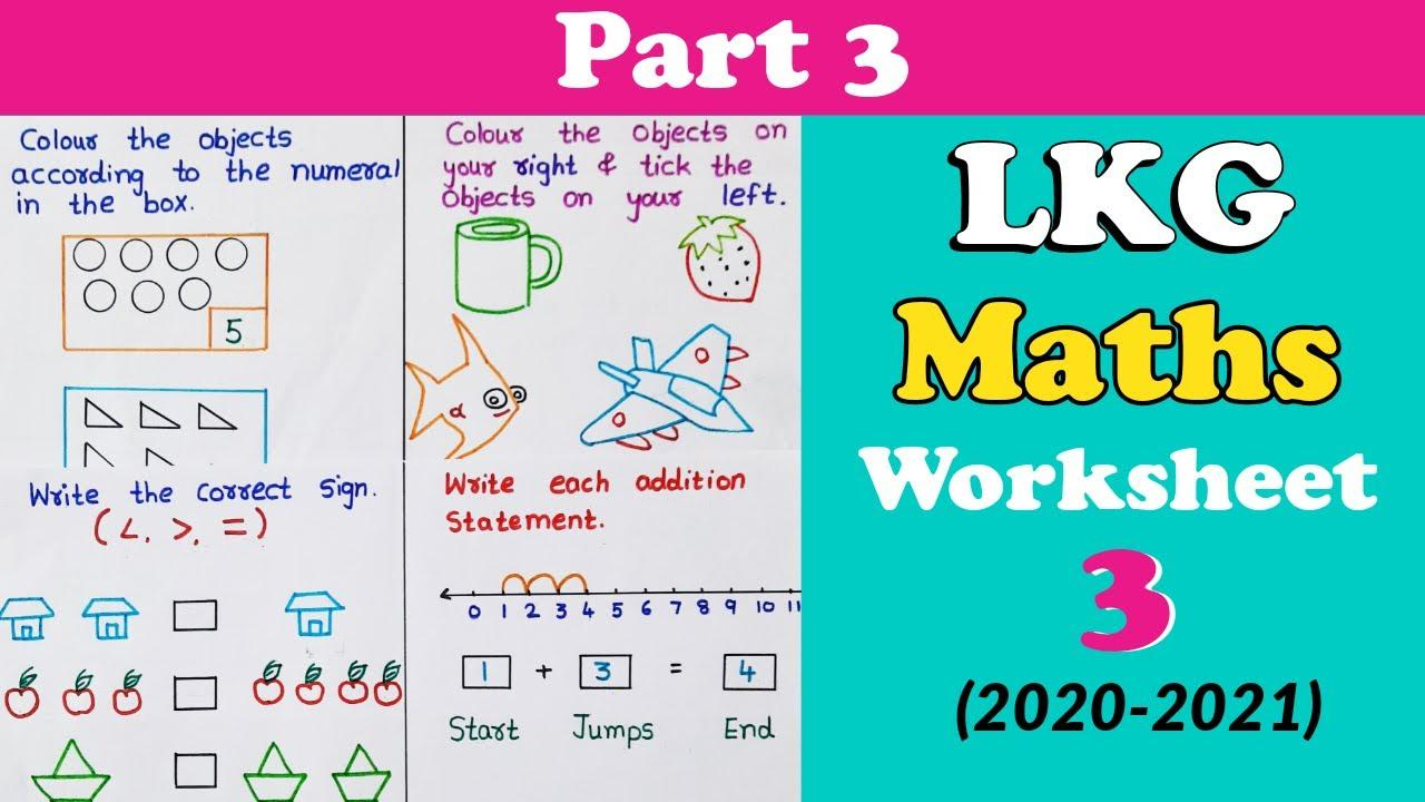 Math Worksheets Lkg Class