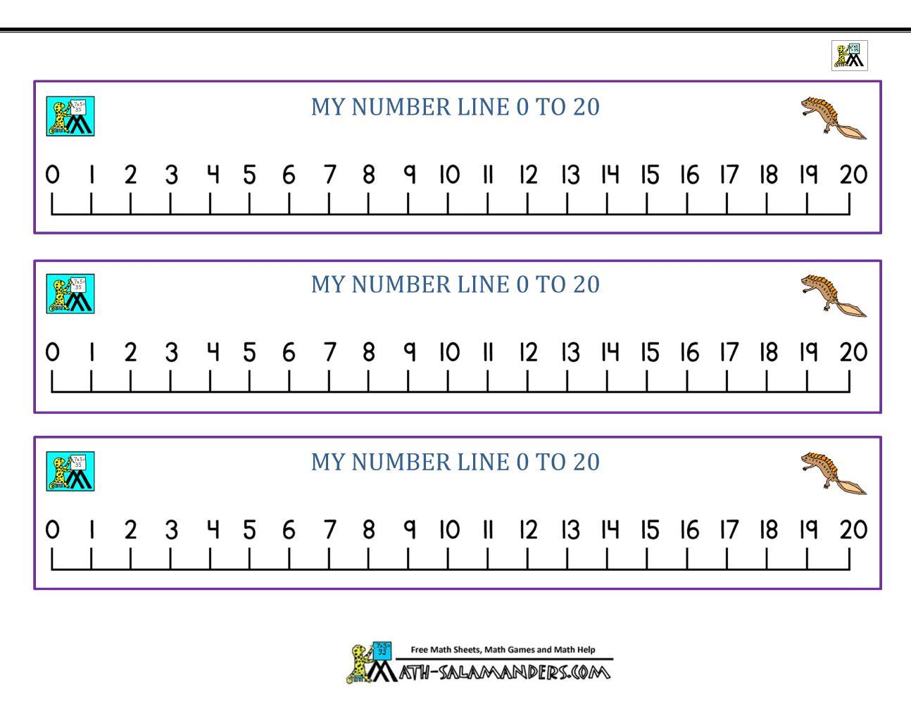1st Grade Math Worksheets Number Line
