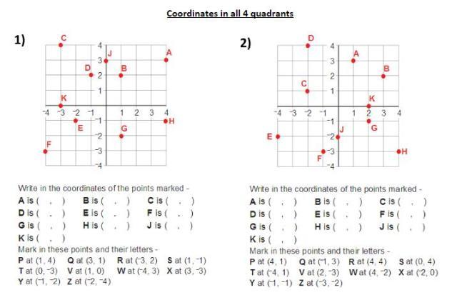 Math Grids Worksheets