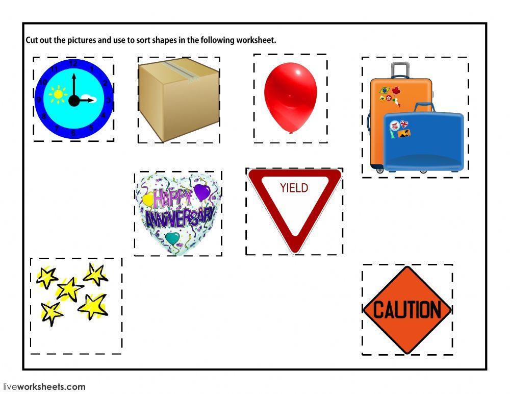 Math Shapes Worksheets 2nd Grade