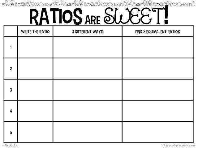 Math Worksheet Ratio Grade 5