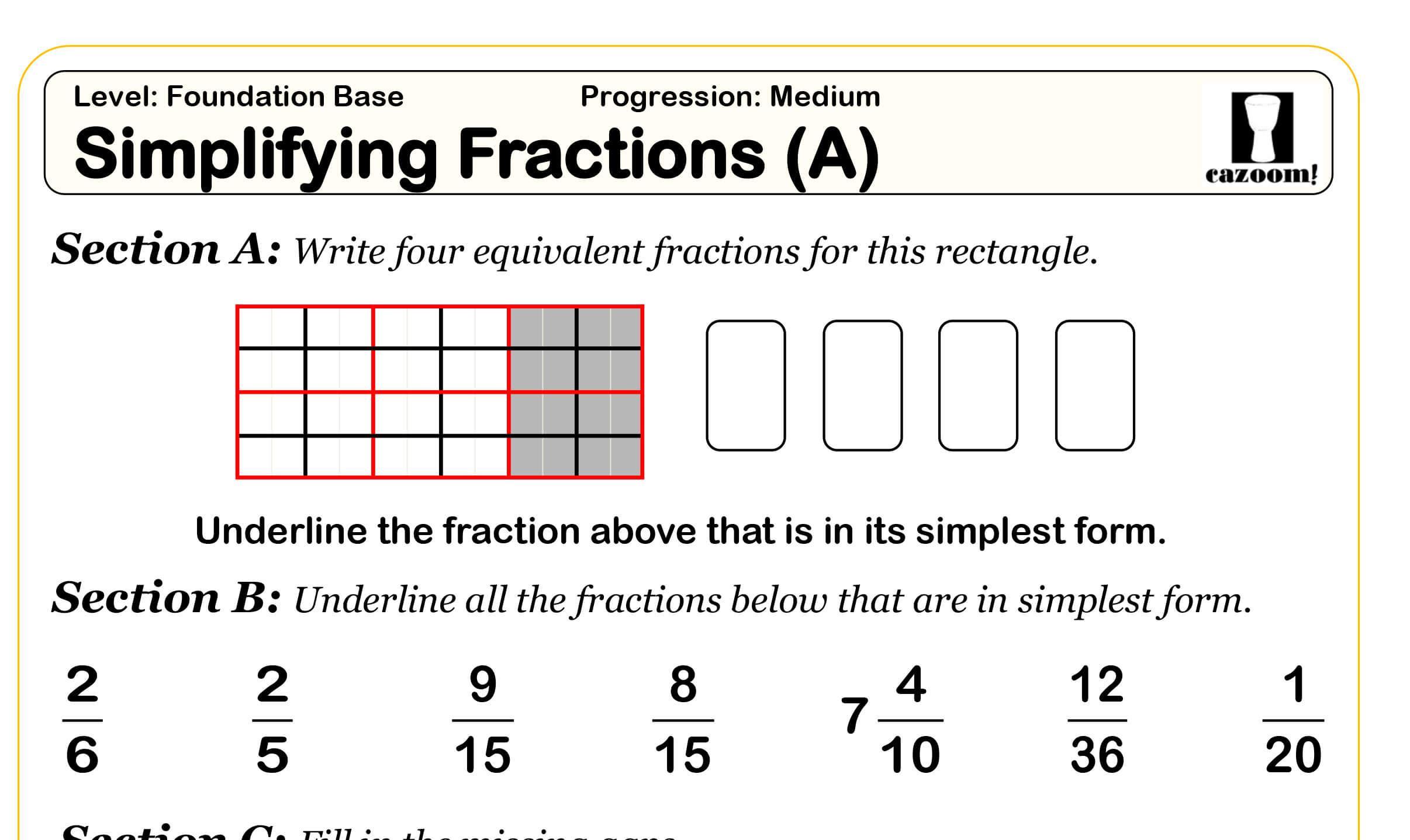 Math Worksheets Fractions On A Number Line
