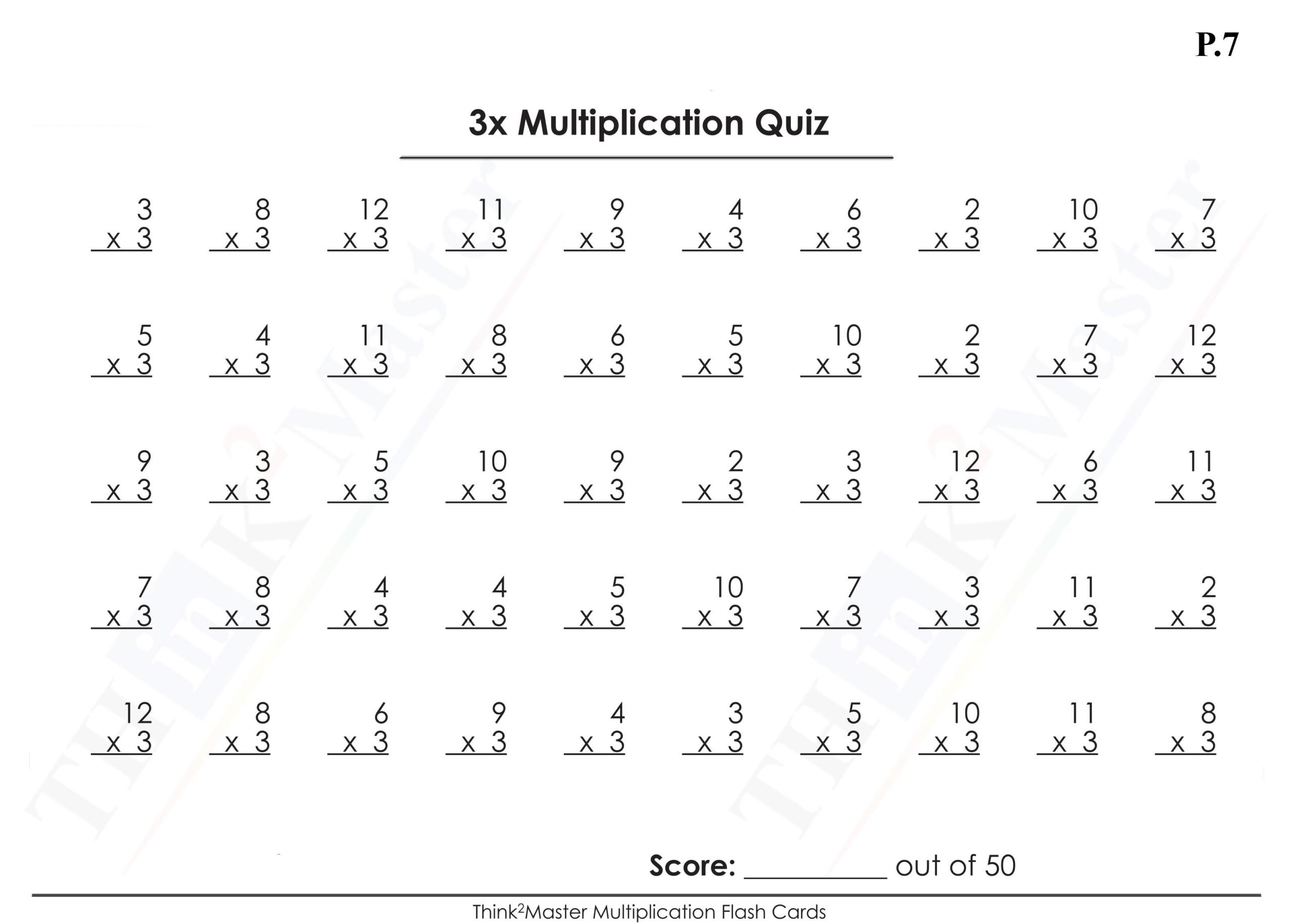 Math Worksheets Multiplication Printable
