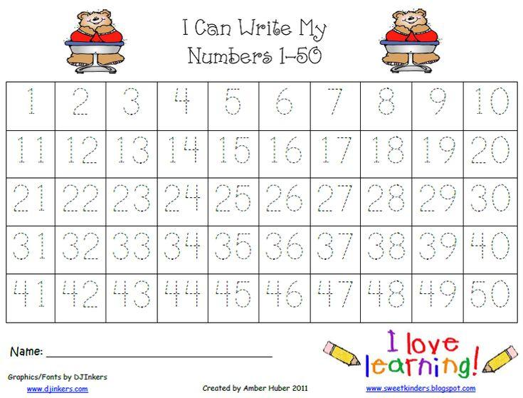 Math Worksheets Numbers 1-50 6