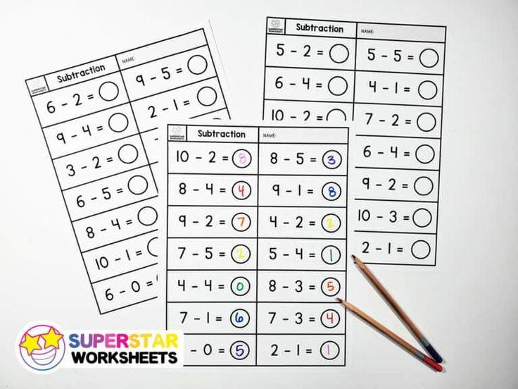 Math Worksheets Subtraction Without Regrouping