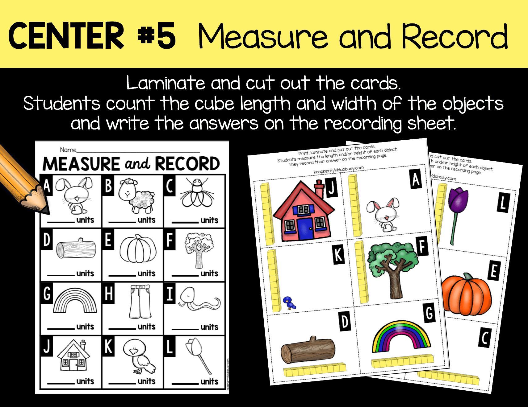 Math Worksheets Units Of Measurement 4