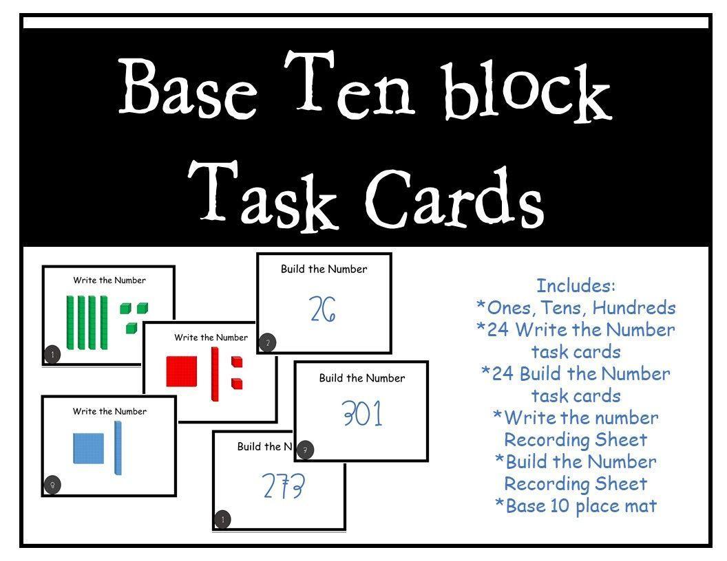 Math Worksheets Using Base Ten Blocks 3
