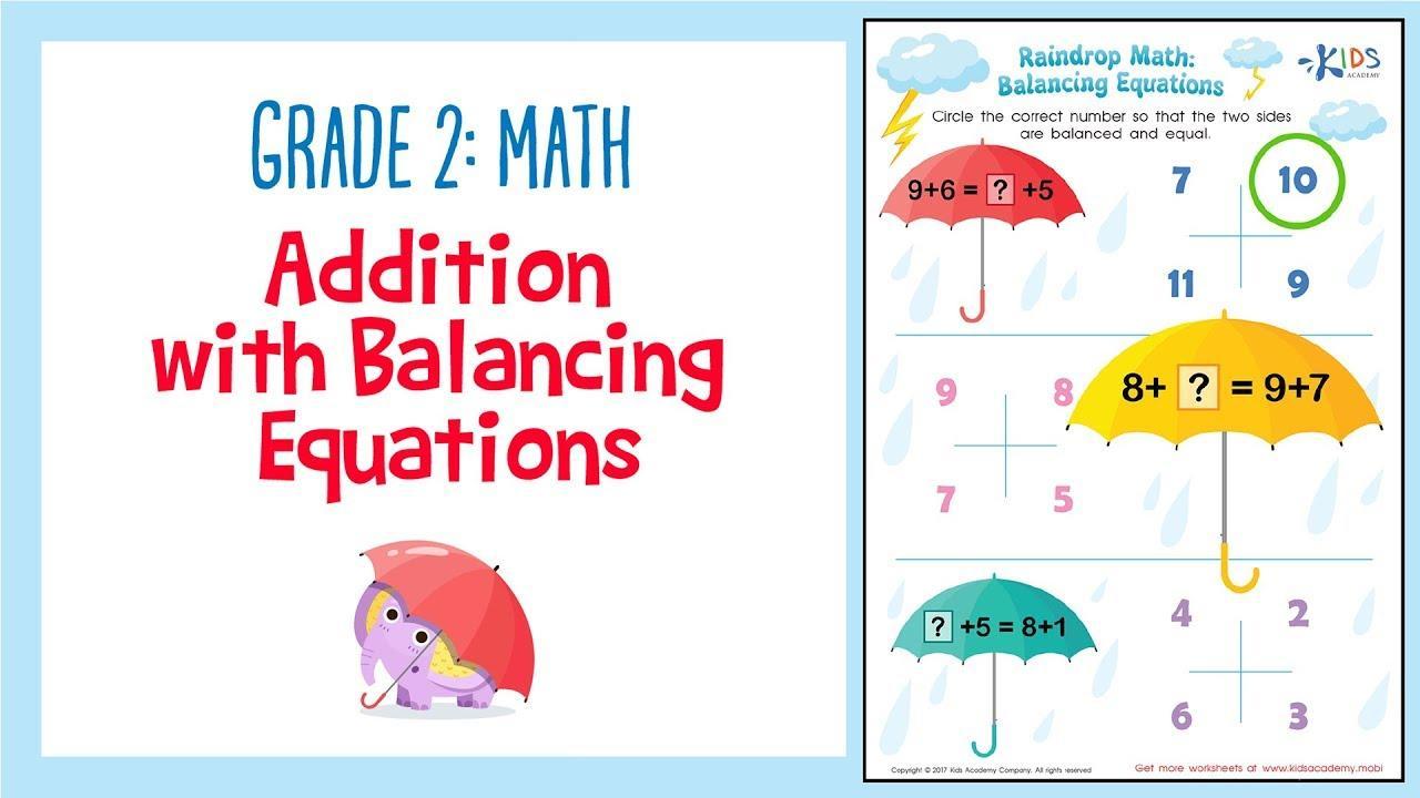 Maths Practice Worksheet For Class 2