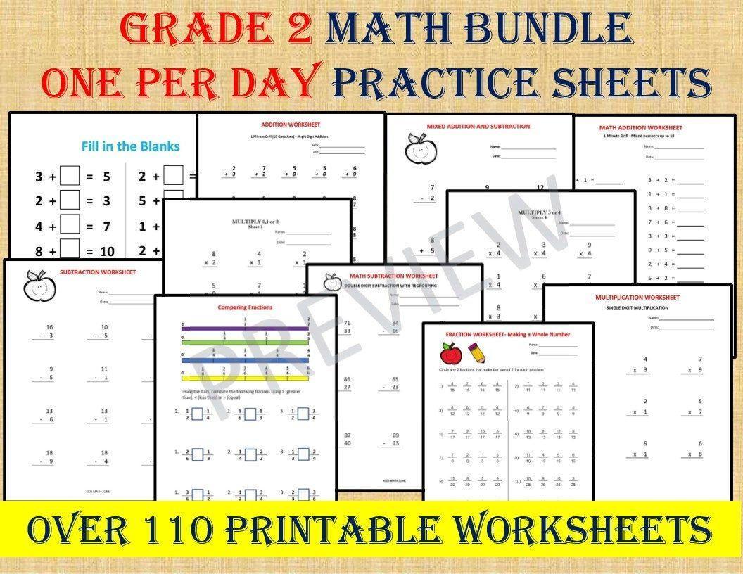 Maths Test Worksheets For Grade 2