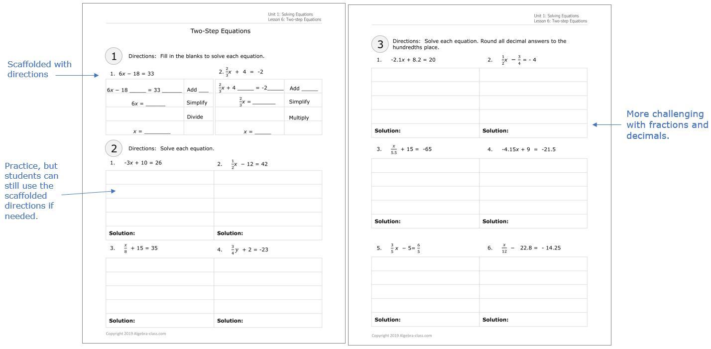 Algebra 1 Worksheet 1.5 Answer Key