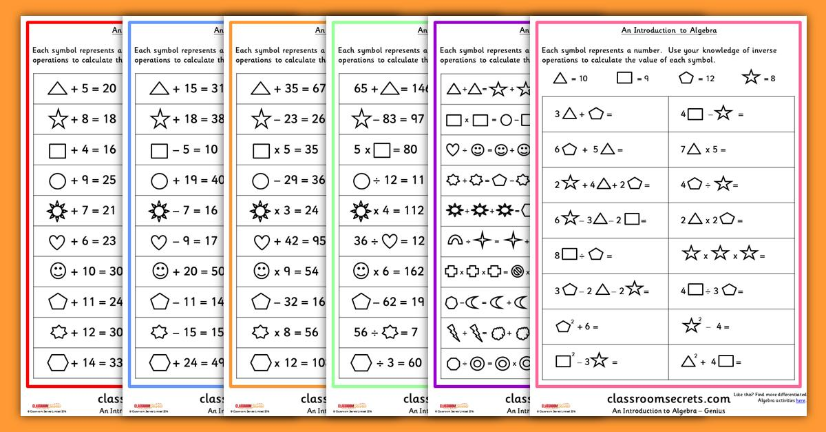 Algebra Activity Worksheets Fun