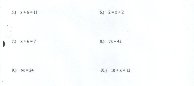 Algebra Worksheets Grade 7 With Answers Pdf