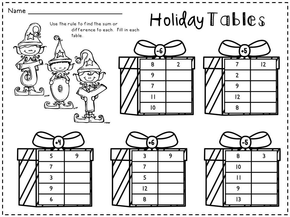 Math Holiday Worksheets