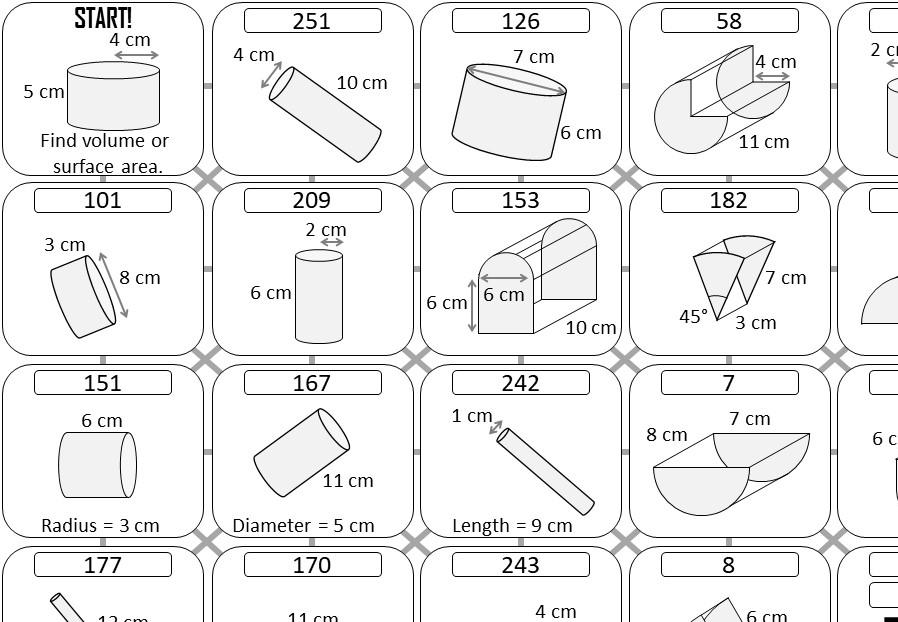 Math Worksheets Volume Of A Cylinder 2