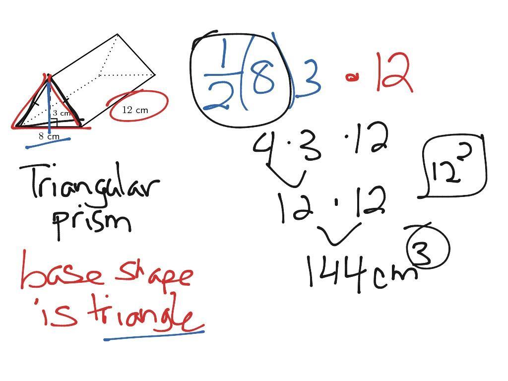 Math Worksheets Volume Of Triangular Prism 4