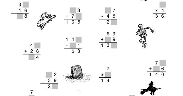 Zombie Math Worksheets 2
