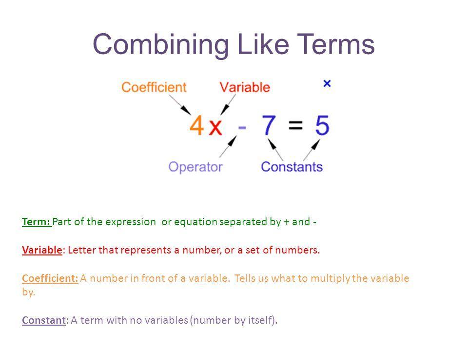 Algebra 1 Combining Like Terms Worksheet Answers
