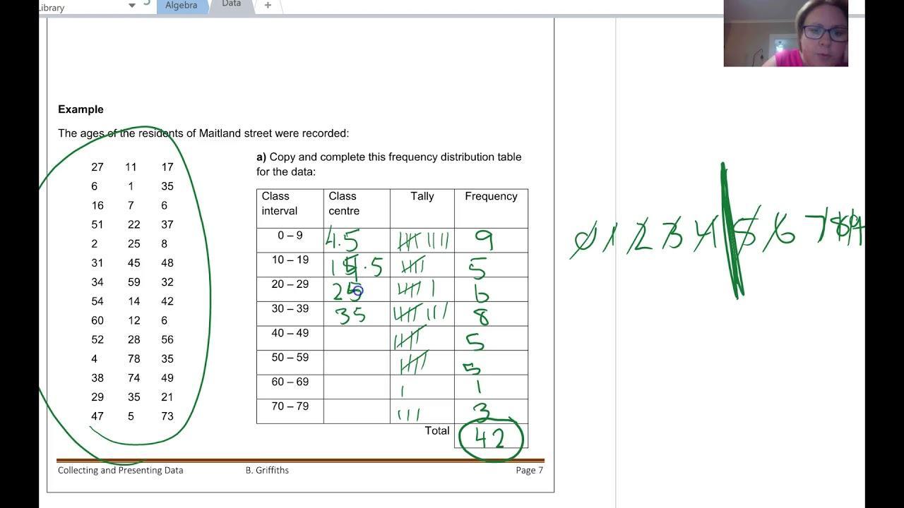 Algebra Histogram Worksheets 7