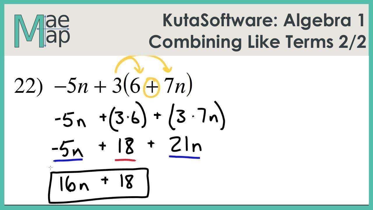 Algebra Like And Unlike Terms Worksheet