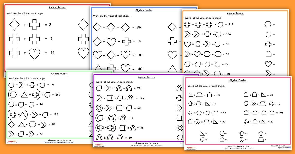Algebra Worksheets For Grade 6