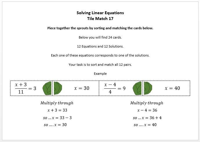 Algebra Worksheets Ks4 2
