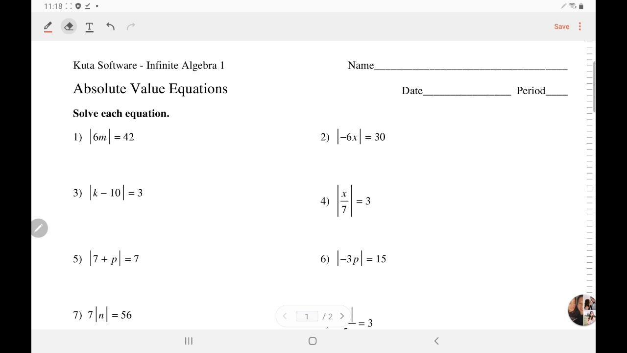 Kuta Free Worksheets Algebra 2