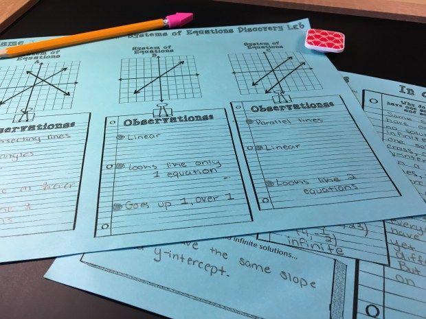 Algebra Lab Worksheets 4