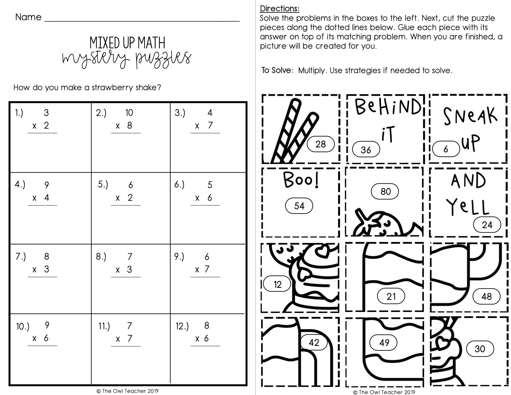Mixed Multiplication And Division Worksheets – Best Kids Worksheets [ 1275 x 1647 Pixel ]