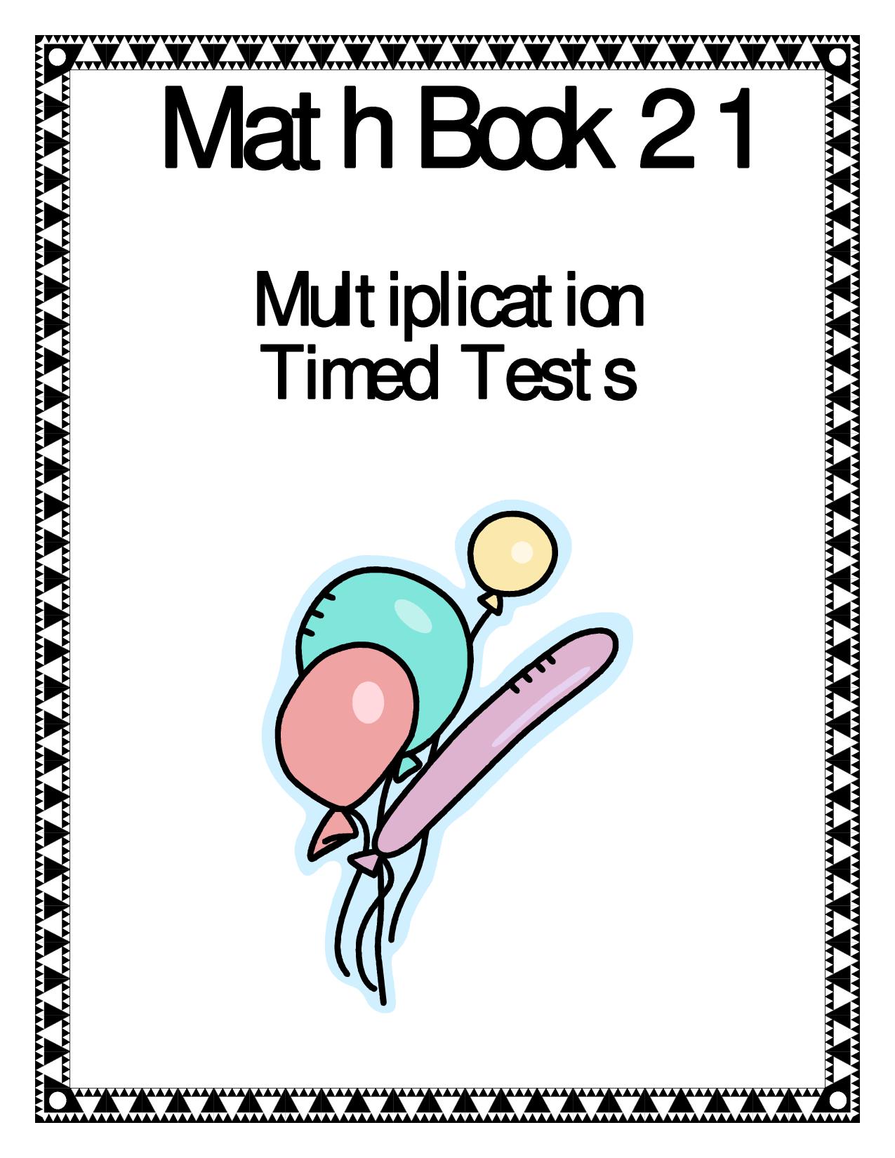 2 Minute Timed Multiplication Worksheets Best Kids