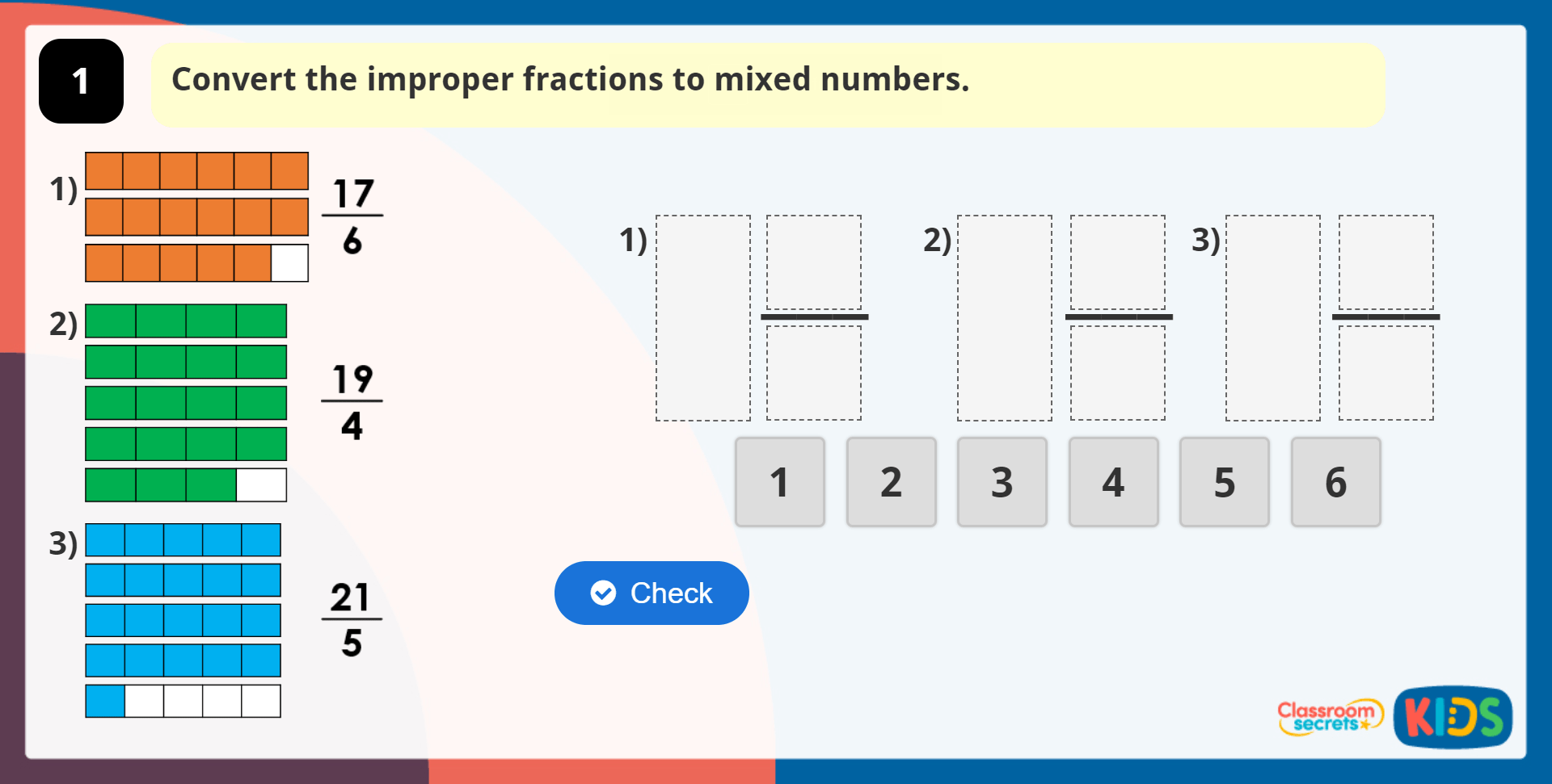 Year 5 Improper Fractions To Mixed Numbers