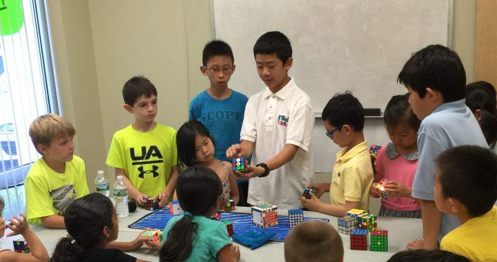 Michael Wu leads the Rubik's Cube club