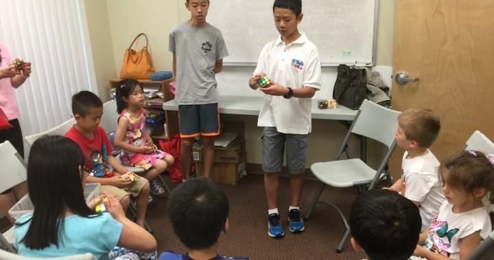 Michael Wu teaches the Rubik's Cube