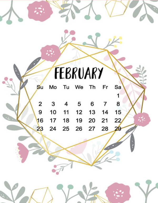 februaryn2020 calendar doodle design pdf
