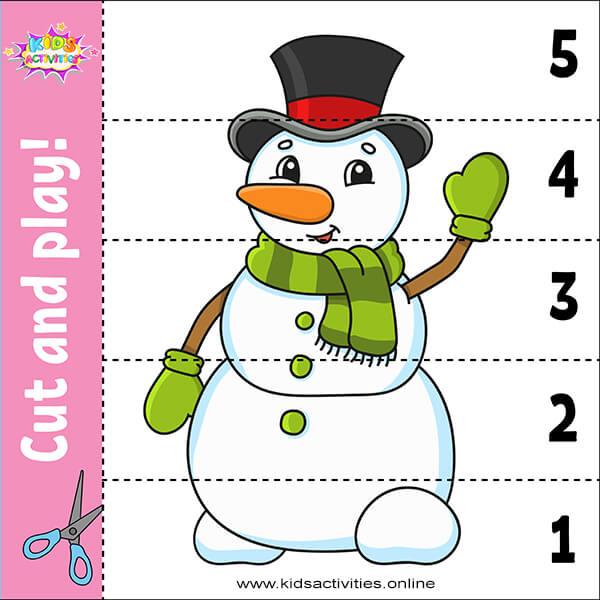 ٍSnowman puzzle games preschool