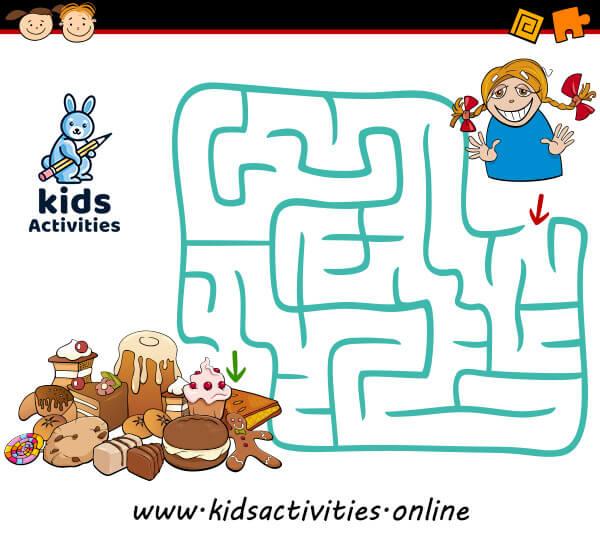 Easy maze for preschoolers
